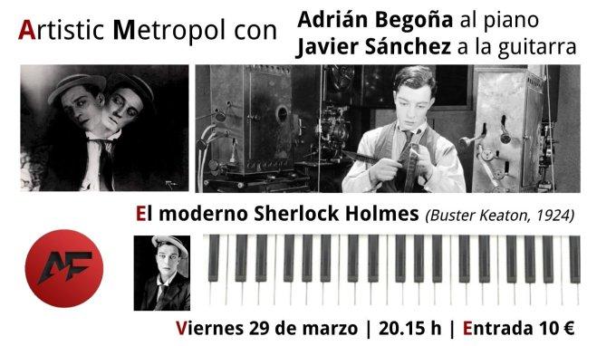 Cartel Sherlock Piano y Guitarra