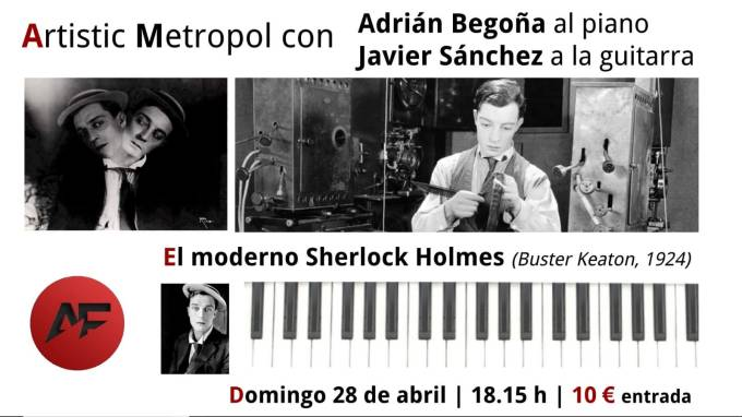 Cartel Sherlock Piano y Guitarra 28abril