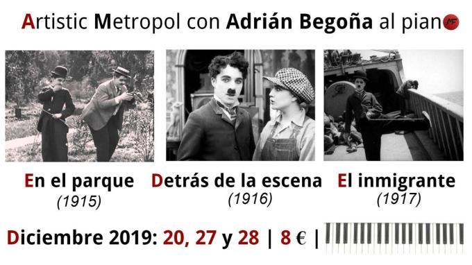 Cartel cortos Chaplin - Diciembre 2019